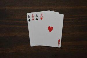 fyra spelkort